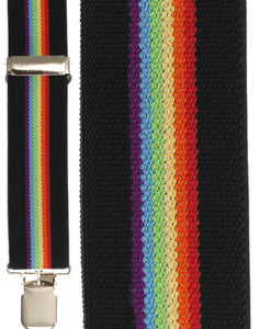 """Black Rainbow Terry Stripe"" Suspenders"