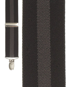 """Black Regimental Stripe"" Suspenders"