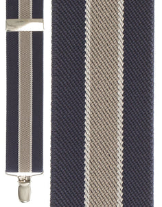 """Blue Bostonian Stripe"" Suspenders"