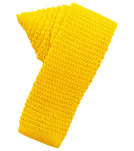 Bright Gold Knit Skinny Tie