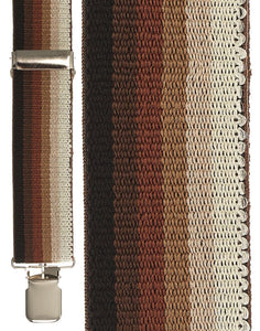 """Brown Ombre Terry Stripe"" Suspenders"