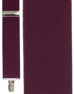 """Burgundy Bostonian"" Suspenders"