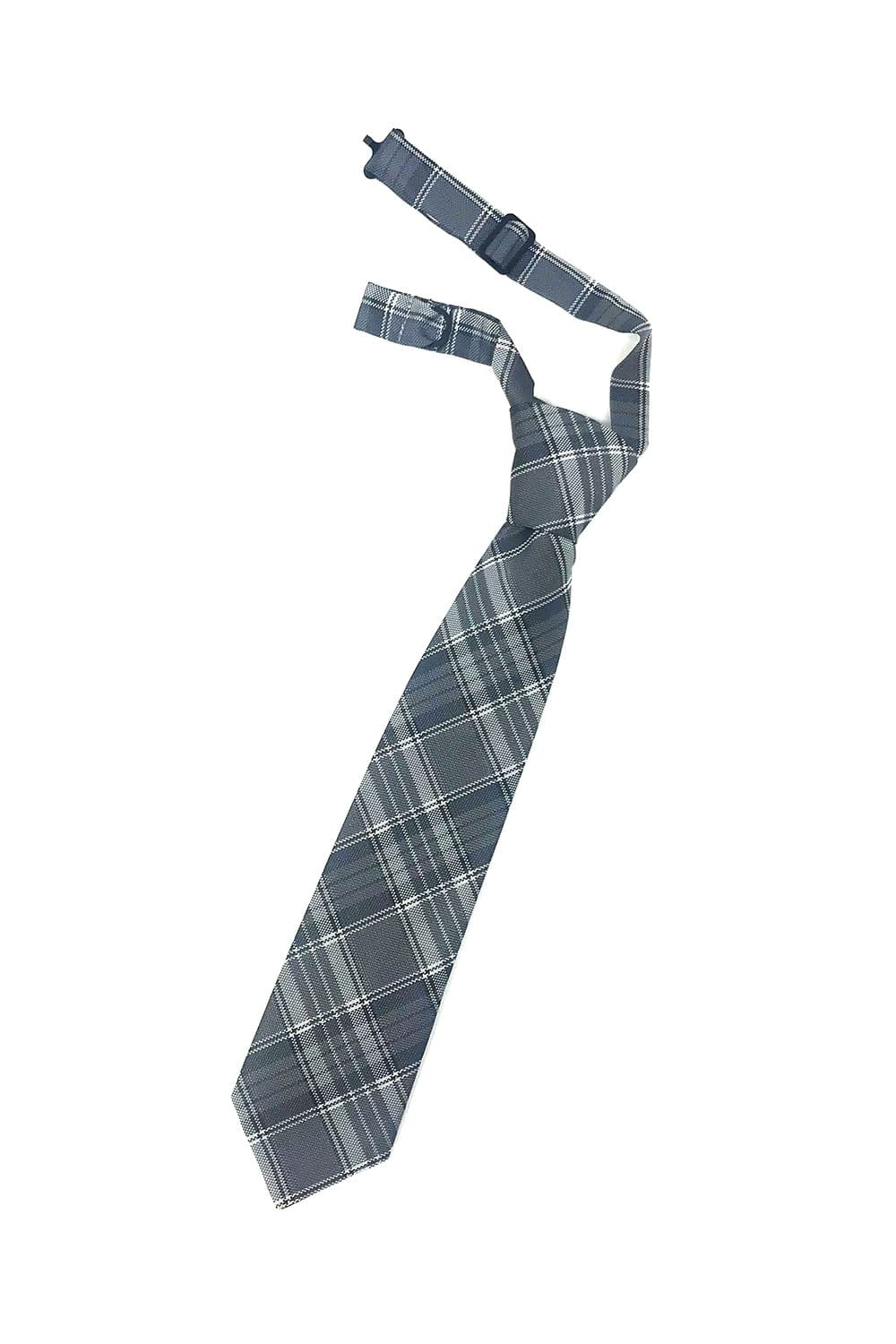 Grey Madison Plaid Kids Necktie