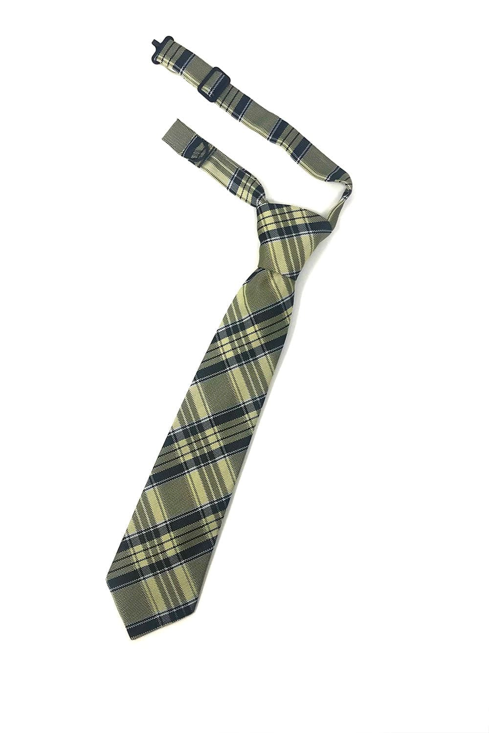 Yellow Madison Plaid Kids Necktie