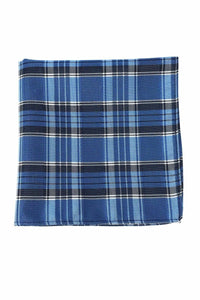 Blue Madison Plaid Pocket Square