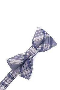 Purple Madison Plaid Kids Bow Tie