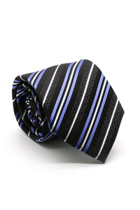 Black and Purple Belmont Necktie