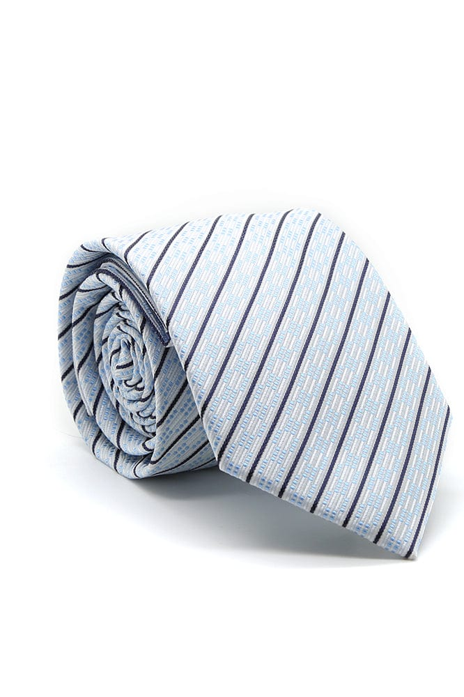 White and Blue Belvedere Necktie