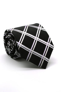 Black and Silver Montebello Necktie