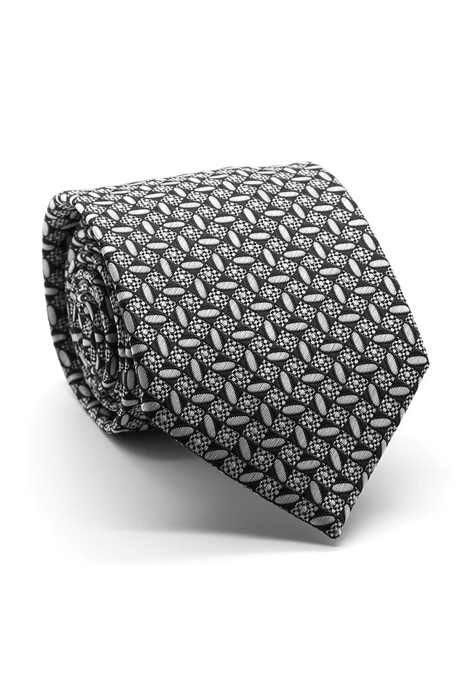 Black and White Rio Vista Necktie