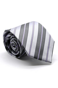 Purple and Grey Santa Maria Necktie