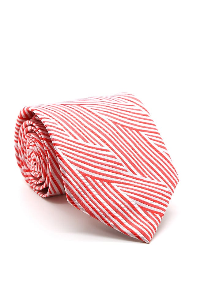 Red and White Westminster Necktie