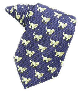 Golden Retrievers Blue Tie