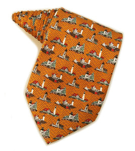 Lighthouses of Maine Orange Tie
