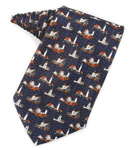Lighthouses of Maine Navy Tie