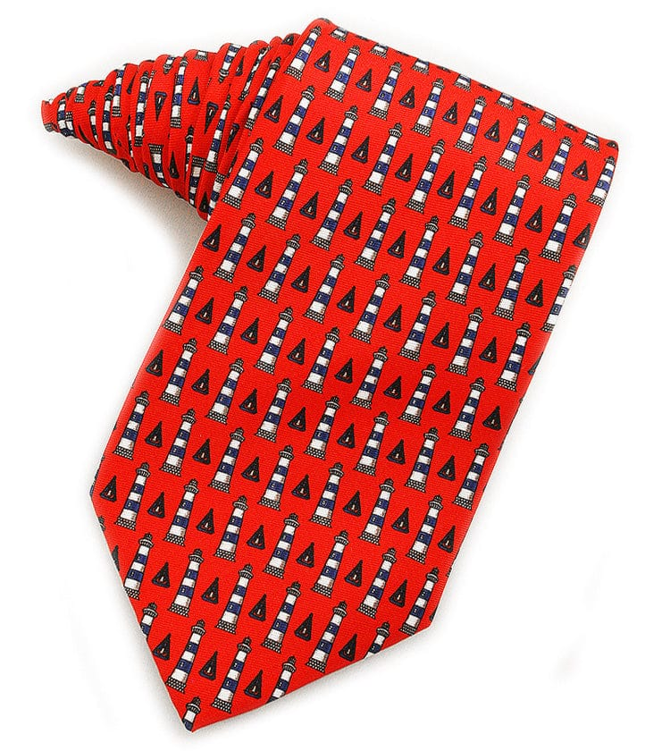Lighthouses Red Tie