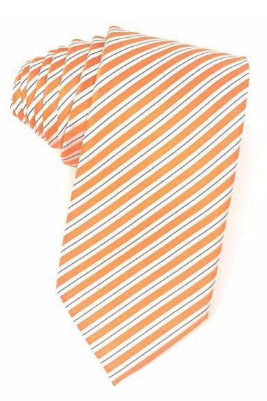 Orange Newton Stripe Necktie