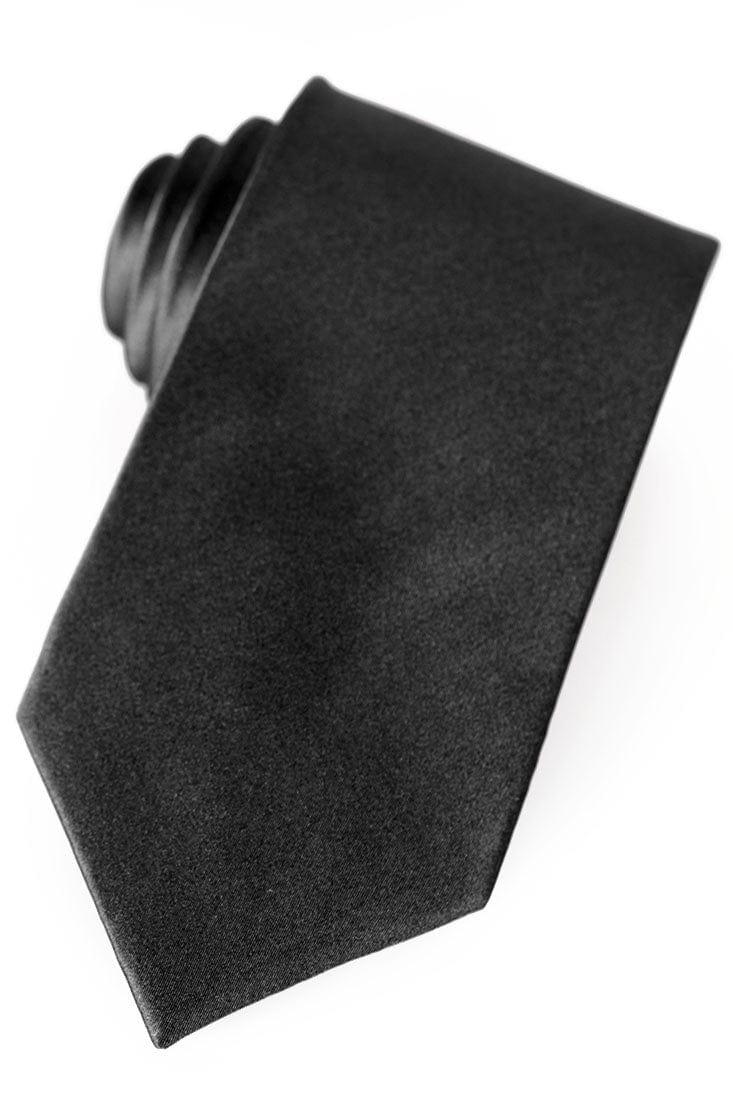 Black Silk Necktie