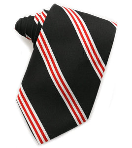 Repp Double Stripe Black & Red Tie
