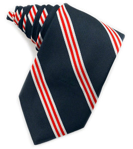 Repp Double Stripe Navy & Red Tie