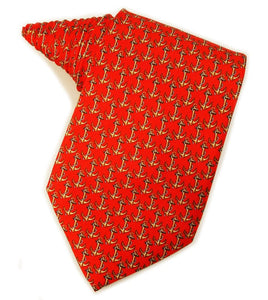 Ships Anchors Red Tie