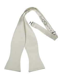 White Noble Silk Bow Tie