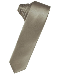 Stone Luxury Satin Skinny Necktie