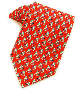 Sunrish Sailboats Red Tie