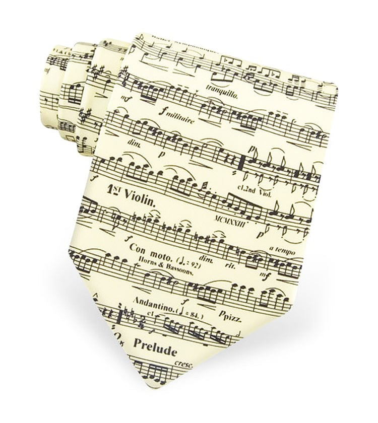 Violin Classic Sheet Music in Yellow Tie