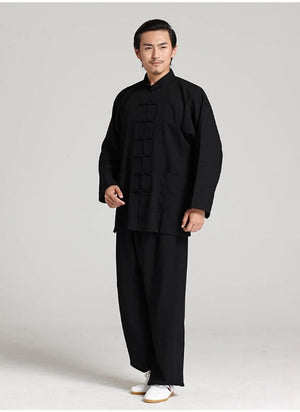 Unisex Traditional Tai Chi Clothing Linen Kung Fu Uniforms