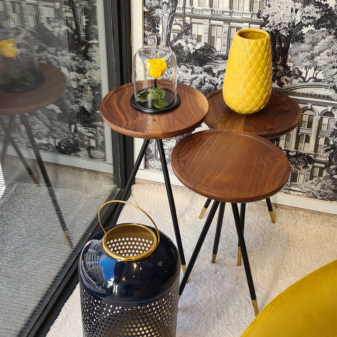 Trio de tables d'appoint « MELINDA »