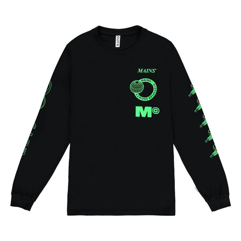 Dystopia Society Long Sleeve Tee Neon Green