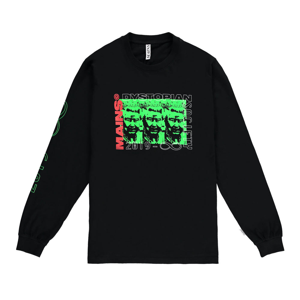 Long Sleeve Queen Tee - Black / Neon Green