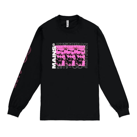Long Sleeve Queen Tee - Black / Neon Pink