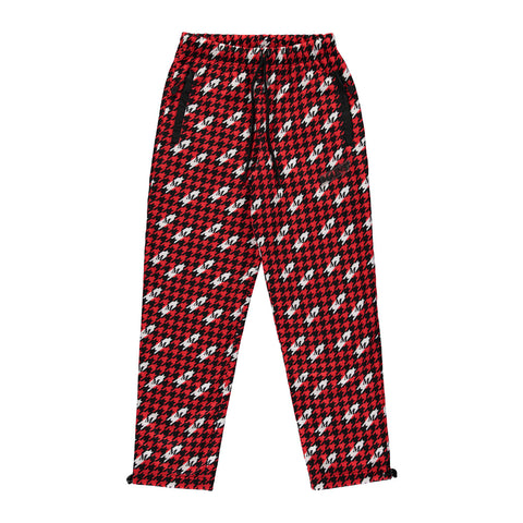 Fleece Drill Suit Bottom - Houndstooth Print