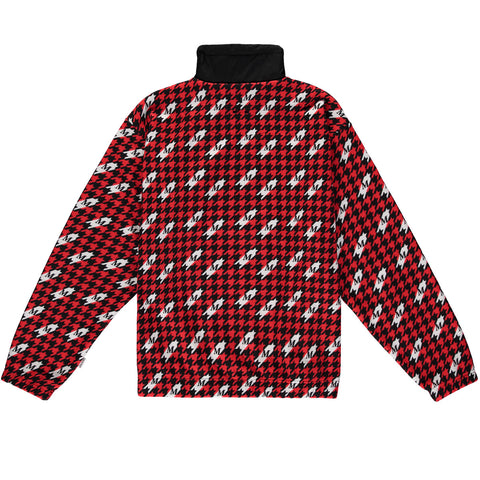 Fleece Drill Suit Top - Houndstooth Print