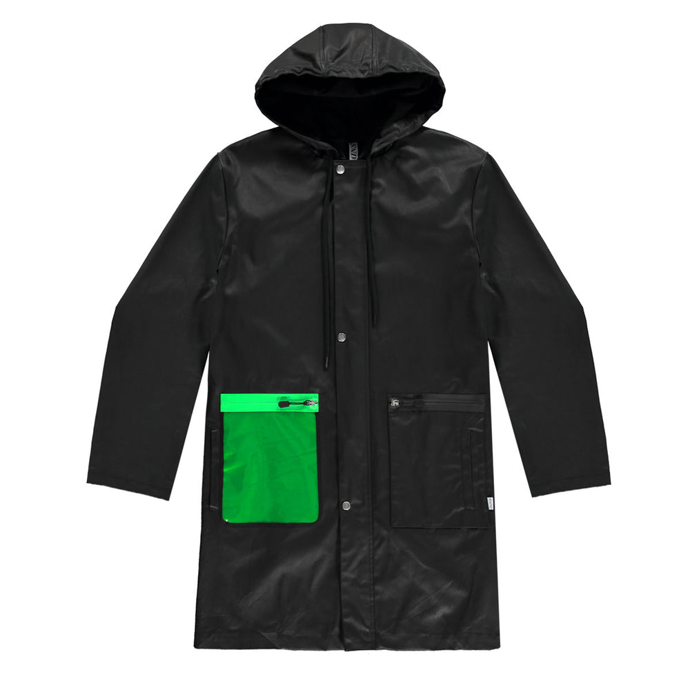 Mains waxed jacket in Black