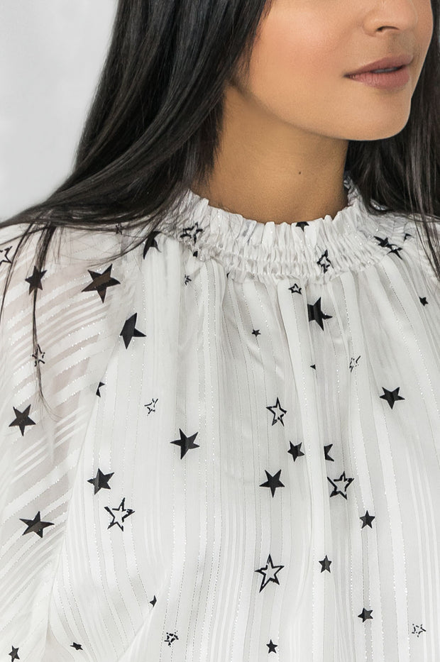 Shoot for the Stars Smocked Blouse