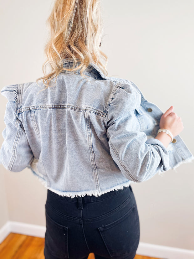 Daphne Puff Sleeve Denim Jacket