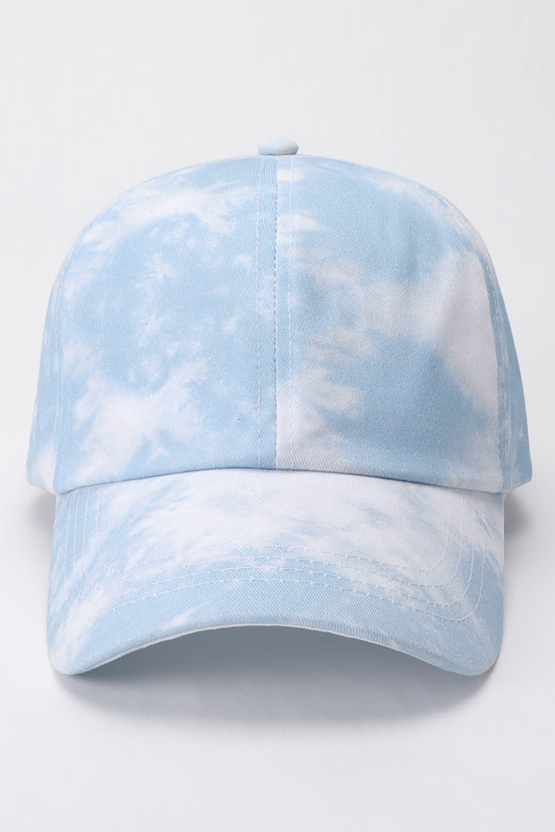 Good Vibes Dusty Blue + White Tie-Dye Cap