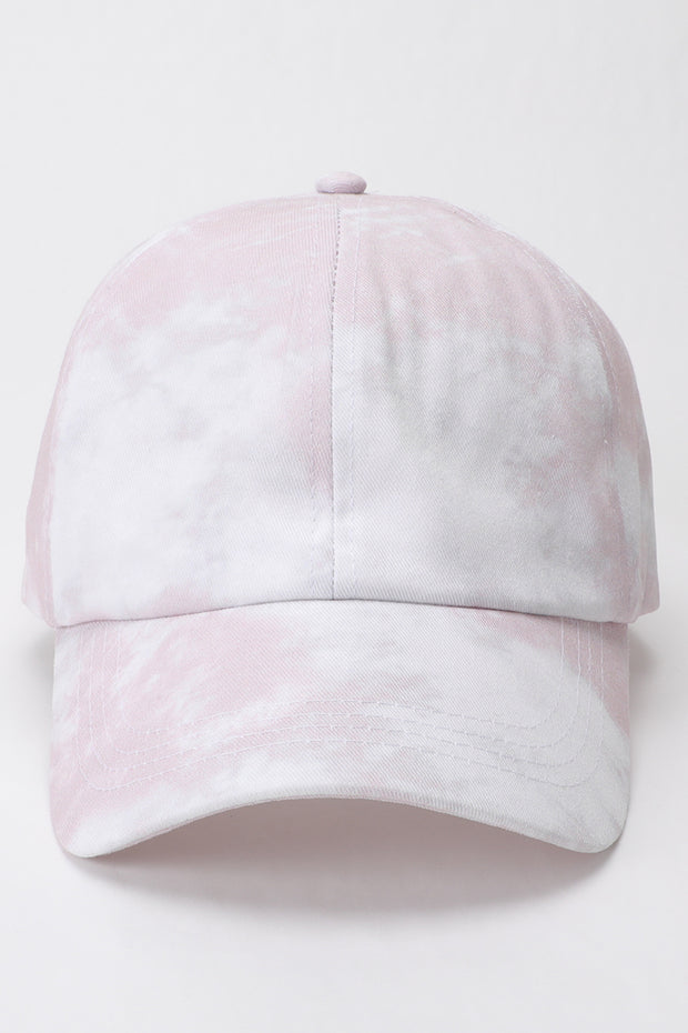 Good Vibes Dusty Pink + White Tie-Dye Cap