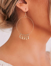 It's in the Stars Gold Hoop Earrings