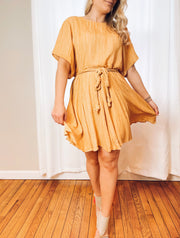 Mellow Yellow Rope Tie Dress