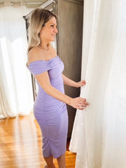 Lavender Fields Off The Shoulder Dress