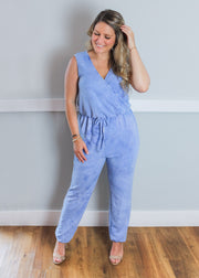 Cloud Nine Blue Tie-dye Jumpsuit