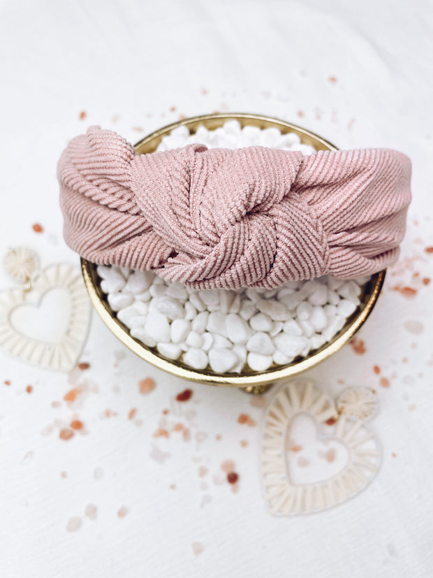Don't Make Me Blush Top Knot Headband