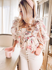 Garden Party Ruffle Top