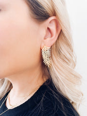 Zaza Gold Leaf Earrings