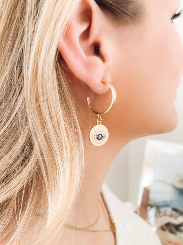 All Eyes On You Evil Eye Earrings