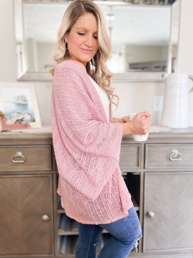 Desert Rose Knit Cardigan